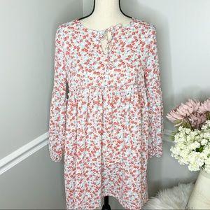 JACK BY BB DAKOTA Floral Long Sleeve Tunic Dress